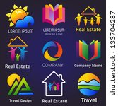 set of company name concepts....   Shutterstock .eps vector #133704287