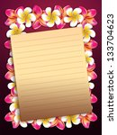 plumeria  frangipani flowers... | Shutterstock . vector #133704623