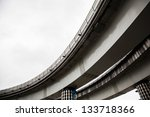 elevated railway - stock photo