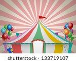 circus tent celebration | Shutterstock . vector #133719107