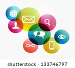 social media icons set in... | Shutterstock .eps vector #133746797