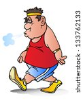 illustration of a fat man... | Shutterstock . vector #133762133