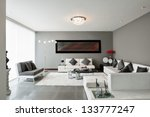Interior Design: Living room - stock photo