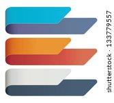 vector set of banners   Shutterstock .eps vector #133779557