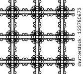 black and white elegant lattice ... | Shutterstock .eps vector #133780673