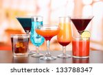 several glasses of different... | Shutterstock . vector #133788347