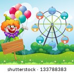 illustration of a clown with... | Shutterstock .eps vector #133788383