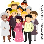 illustration of people with... | Shutterstock .eps vector #133791977