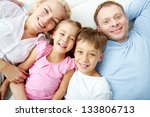 portrait of happy family... | Shutterstock . vector #133806713