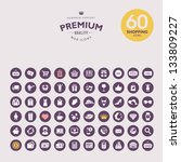 set of premium shopping icons | Shutterstock .eps vector #133809227