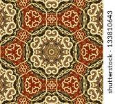 vector seamless retro floral... | Shutterstock .eps vector #133810643