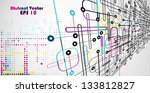 abstract vector colored lines... | Shutterstock .eps vector #133812827