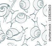 seamless pattern with snails | Shutterstock . vector #133823603