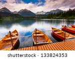 mountain lake in national park... | Shutterstock . vector #133824353