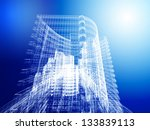 abstract architecture | Shutterstock . vector #133839113