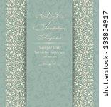 wedding invitation cards... | Shutterstock .eps vector #133854917