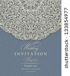 wedding invitation cards... | Shutterstock .eps vector #133854977