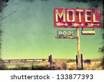 A Worn Vintage Photo Of An...