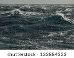 Storm Waves. Pacific Ocean