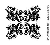 black and white abstract flower   Shutterstock .eps vector #133885793