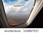 view through airplane the window | Shutterstock . vector #133887527
