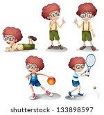 illustration of the five... | Shutterstock .eps vector #133898597