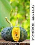 fresh green pumpkin   Shutterstock . vector #133912157