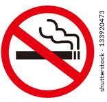no smoking sign | Shutterstock .eps vector #133920473
