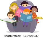 illustration of little kids... | Shutterstock .eps vector #133921037