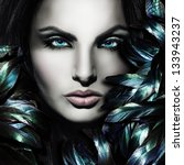 beautiful mystic woman face | Shutterstock . vector #133943237