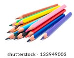 drawing supplies  assorted... | Shutterstock . vector #133949003