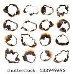 Collection Of Burnt Holes In A...