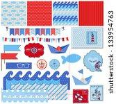 scrapbook design elements....   Shutterstock .eps vector #133954763