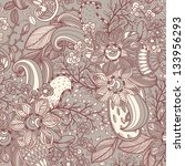 vector floral pattern | Shutterstock .eps vector #133956293