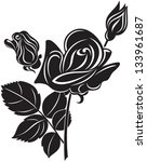 black decorative rose | Shutterstock .eps vector #133961687