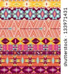 Aztec geometric seamless pattern - stock vector