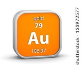 gold material on the periodic... | Shutterstock . vector #133972577