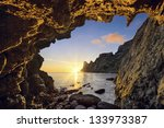 view of sea sunset from the... | Shutterstock . vector #133973387