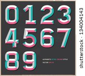 Alphabet Numbers Vintage Colou...