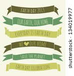 a set of green banners for... | Shutterstock .eps vector #134019977