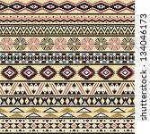 tribal striped seamless pattern.... | Shutterstock .eps vector #134046173