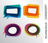 colorful speech bubbles round... | Shutterstock .eps vector #134065097