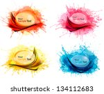 collection of colorful abstract ... | Shutterstock .eps vector #134112683