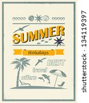 retro card. summer offers. | Shutterstock .eps vector #134119397