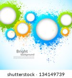 Abstract background with grunge circles - stock vector
