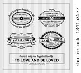wedding typography stamps | Shutterstock . vector #134158577