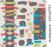 big set retro design elements... | Shutterstock .eps vector #134163707