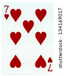 Seven Of Hearts Playing Card ...