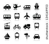 transport  travel vector icons... | Shutterstock .eps vector #134169953