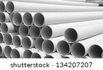 Pvc Pipes Stacked In...